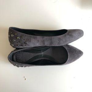 Alexander McQueen Shoes - Alexander Mcqueen Studded suede pointed flats 9